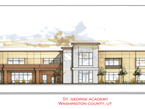 Architectural rendering of of St. George Academy.