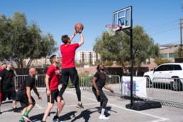 NAI Vegas team playing 3 vs 3 in Charity Basketball Tournament