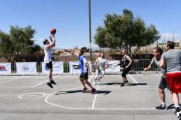 NAI Vegas team playing in Charity Basketball Tournament