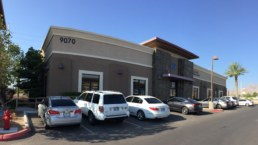 Brown building with tile accent sold as Las Vegas commercial real estate