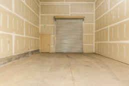 retail and flex space inside view with garage