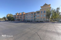 Las Vegas Grand Apartments' parking lot and building