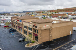 Side of Retail Building along I-15 in St. George UT Sells