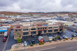 Front of Retail Building along I-15 in St. George UT Sells