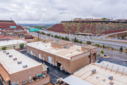 Back side of Retail Building along I-15 in St. George UT Sells