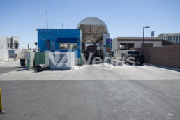 Car wash entrance tunnel on commercial real estate property in Las Vegas