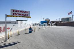Car wash entrance sign on commercial real estate property in Las Vegas